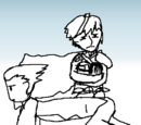 Chrom riding Phoenix Wright