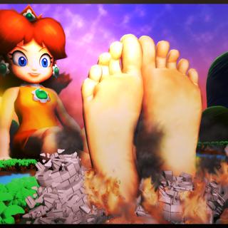 Ew, Giant foot!
