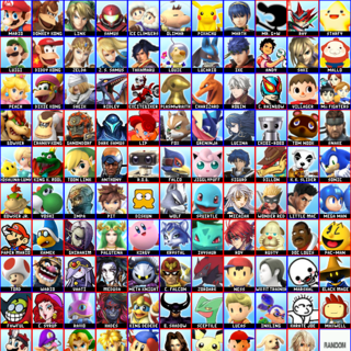 His 109 character roster (he meant to only make 99, but he miscounted). Also, replace Ravio with Tingle.