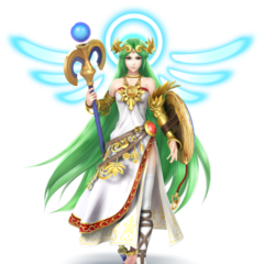 Palutena's official Smash Bros appearance.