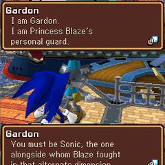 Blaze has a koala guard named Gardon.
