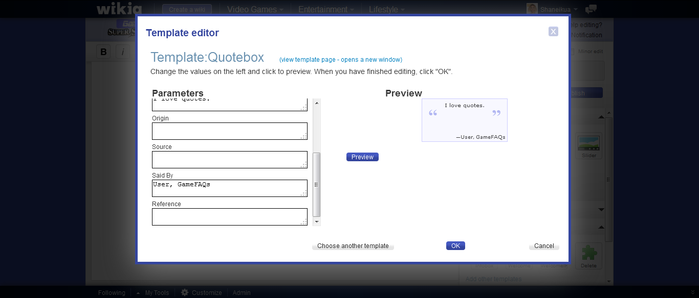 how to add an quotebox gamefaqs super smash bros board wiki
