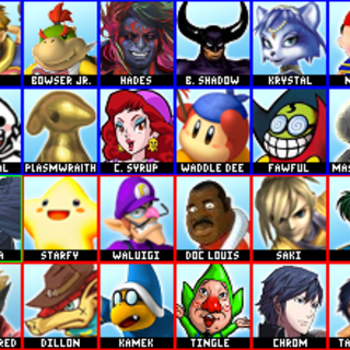 A hierarchy of every newcomer he has wanted. The blue-boxed ones are from most to least. The green ones are confirmed. The red ones are disconfirmed. The yellow box indicates that though he once wanted Shulk, he now hates him.
