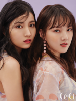 Sowon and Yerin CéCi Feb 2018