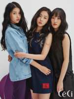 Sowon, Eunha and Yuju CéCi Feb 2018
