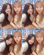 Sowon and Eunbin Insta Update Oct 9, 2017