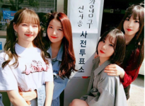 Sowon, Yerin, Eunha and Yuju Insta Update May 5, 2017