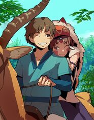 Princess-mononoke-san-ashitaka-smile