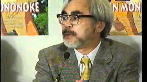 Hayao Miyazaki Pressekonferenz zu Prinzessin Mononoke German