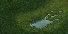 Ghibli-rote-schildkröte-see