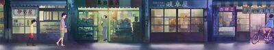 Ghibli tränen yesterday stadt klein