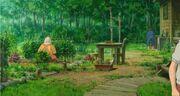 Ghibli-marnie-landhaus-garten