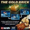 Lego Dimensions Info Gold Brick Promo 10-13-2015