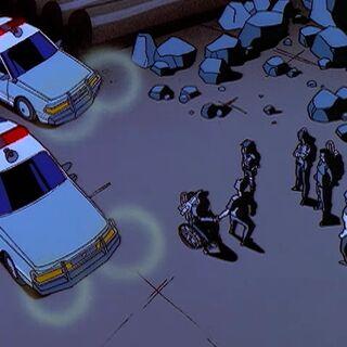 Полииция, приехавшая за бандитами