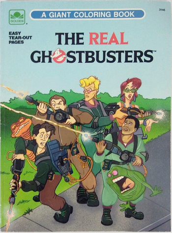 The Real Ghostbusters A Giant Coloring Book