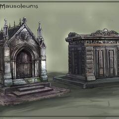 Концепт-арт видов склепов и мавзолеев