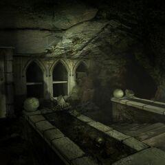Склеп, ведущий к подземным тоннелям