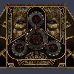Концепт-арт механических ворот Главного мавзолея, открывающиеся специальными ключами, наделенными паранормальной энергией