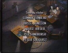Real Ghostbusters credits Swedish 1