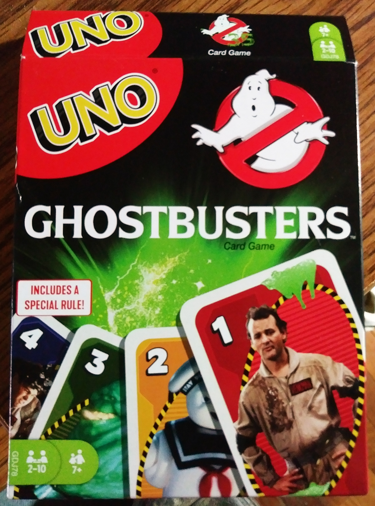 Mattel Games Uno Ghostbusters 35th Anniversary Card Game