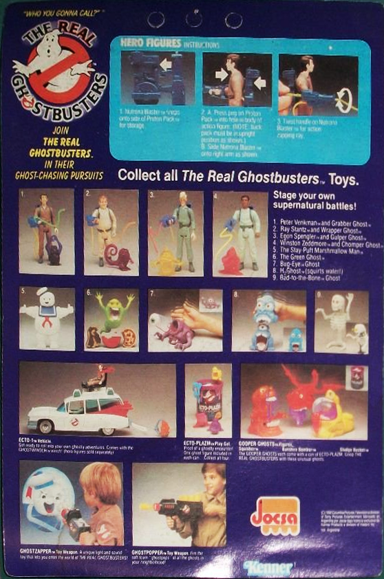 Argentine 1992 Ultra Figus The Real Ghostbusters Autocollant Pack