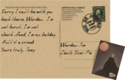 Postcard to Warden