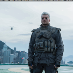 Batou on a rooftop - Ghost if the Shell movie (2017)