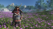 Jin Sakai in Full Samurai Armor