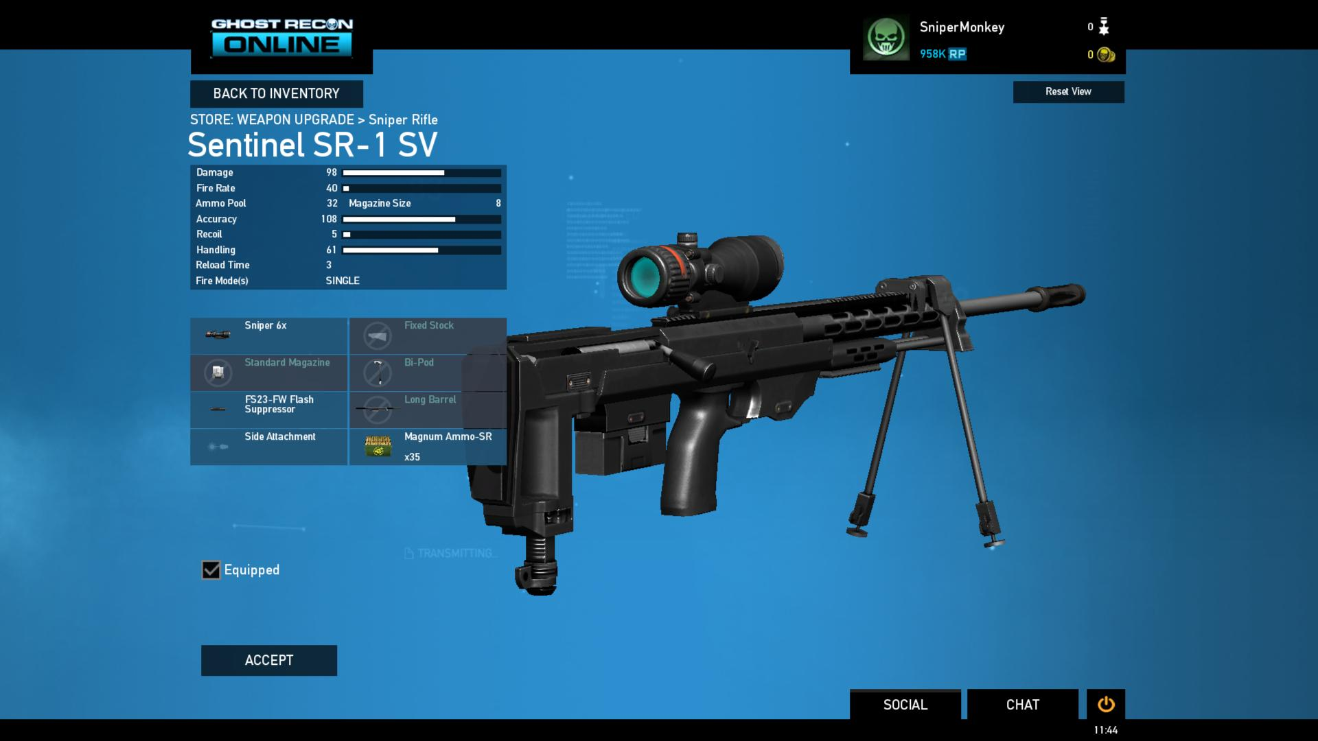 GRO Launch Screens Wpn Cust Sniper Rifle