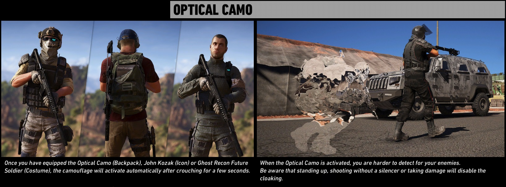 Optical camouflage   Ghost Recon Wiki   FANDOM powered by Wikia