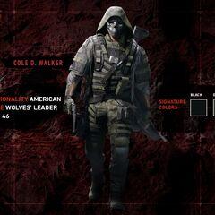 Walker in full Wolf uniform