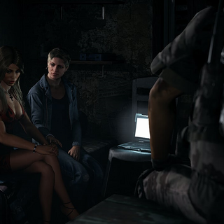 Bowman and Nomad trying to help Antonio's wife after saving her from a cartel manhunt.