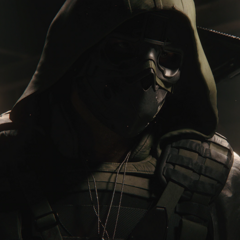 Walker with his mask on in Ghost Recon Breakpoint