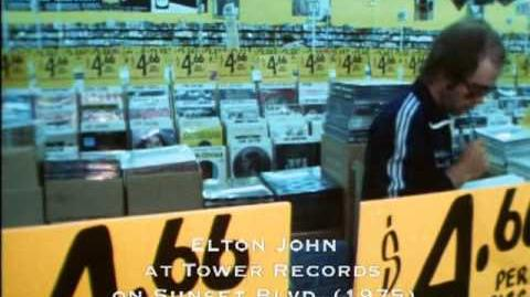 Elton John at Tower Records, 1975