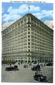 Pittsburgh, PA Gimbel's Department Store 1920s