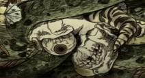 Snake crushing a skull