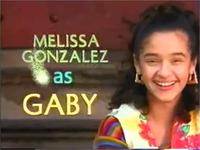 Melissa as Gaby