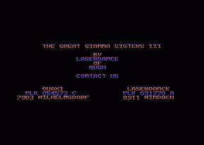 GGS3 Title Screen
