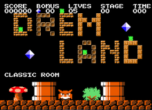 Dream Land Title Screen