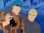 G.I. Joe Cold shoulder. Oktober Guard team up with Injured Rampart and Captain Krimov