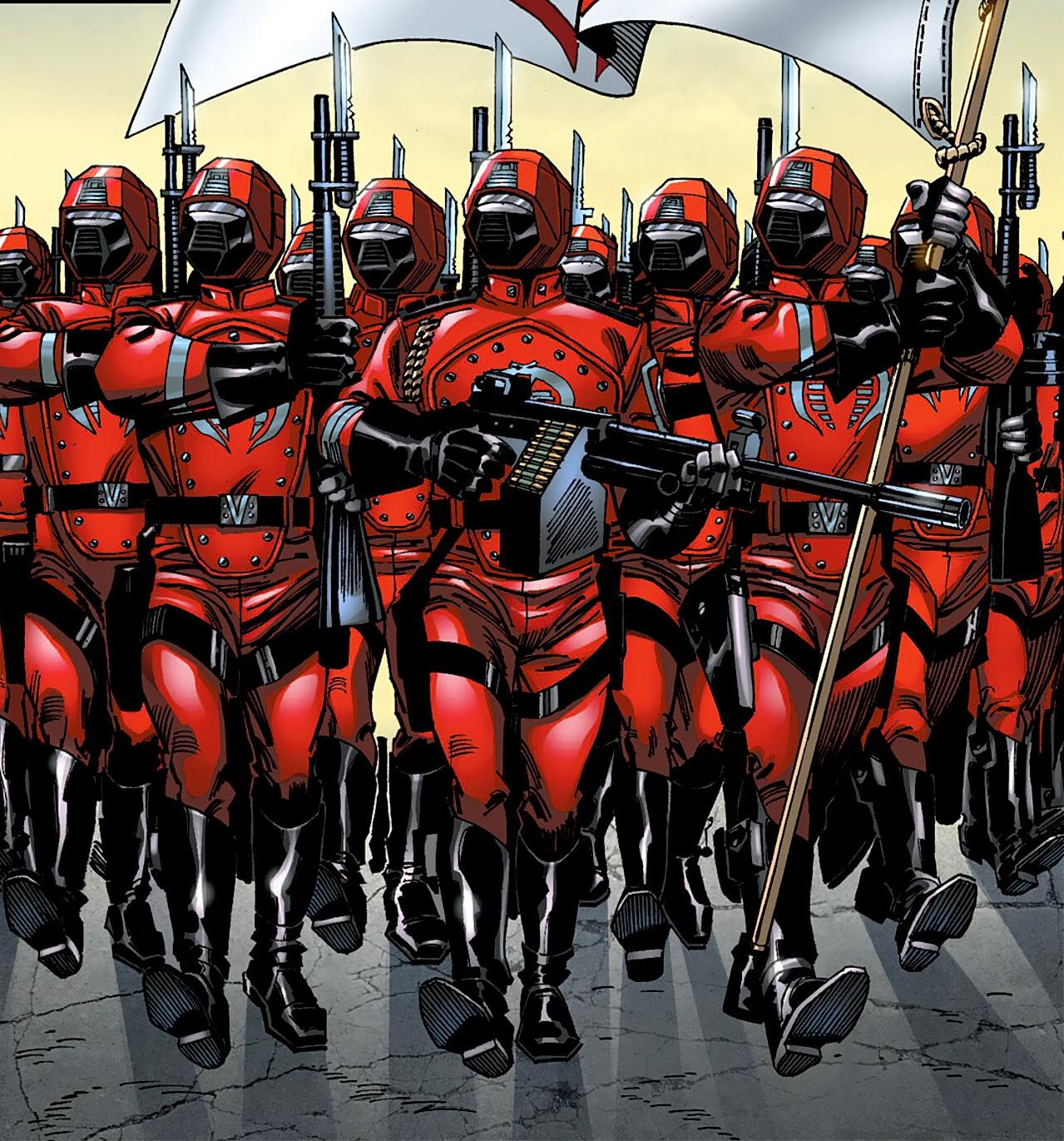 v4 KB exclusive GI Joe Valor v Venom Cobra Crimson Guard complete Red Hair