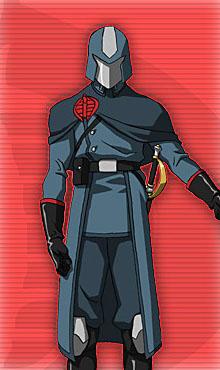 "GI Joe Cobra Commander 4/"" Wide Patch"