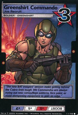Greenshirt commando