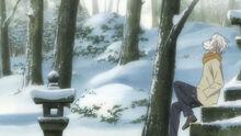 Hotarubi no mori e Gin during the winter