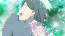 Hotarubi no Mori e Gin hugging Hotaru