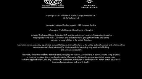 Universal Pictures (copyright) Gingo Animation (in-credit) Closing (2011)