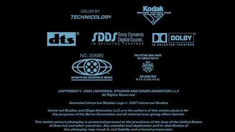 Universal Pictures (copyright) Gingo Animation (in-credit) Closing (2004)