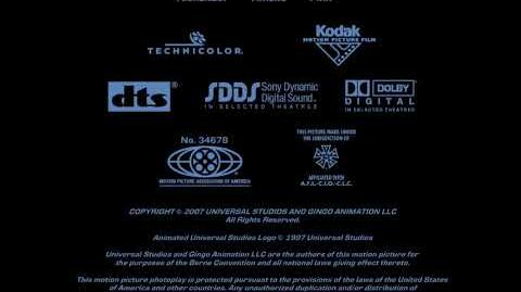 Universal Pictures (copyright) Gingo Animation (in-credit) Closing (2007)