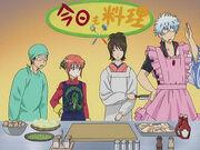 Shinpachi, Kagura, Otae and Gintoki Episode 14