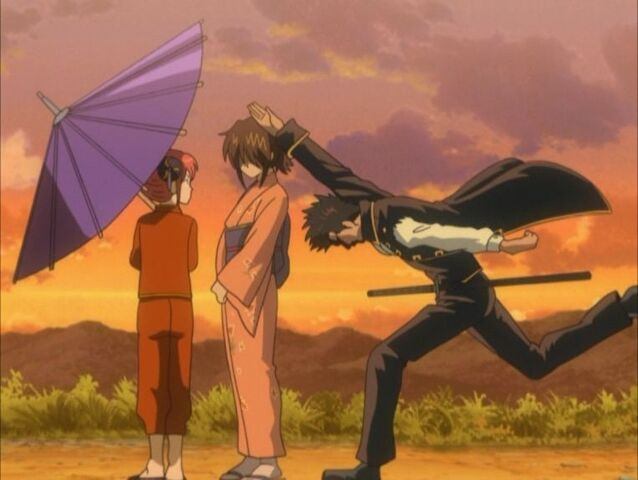 File:Kagura, Otae and Kondou Episode 28.jpeg